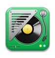 Music app icon vector image vector image