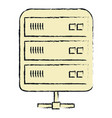 network server symbol isolated icon vector image