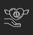 participation in charity chalk white icon vector image vector image
