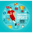 Professional Sports Flat Icon Set vector image