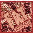 Protein is NOT the Best Food to Lose Weight text vector image vector image