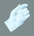 realistic human hand with medical glove vector image