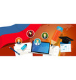 russia education school university concept with vector image vector image