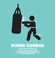 Sandbag For Boxer Graphic Symbol vector image