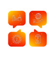 save planet factory and battery icons vector image
