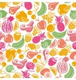 seamless pattern fruits and berries icons vector image