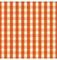 seamless pattern orange and white tablecloth vector image vector image
