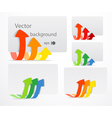 Set of cards with color arrows vector image vector image