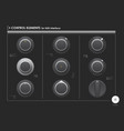 set of control elements or audio equipment for web vector image