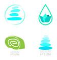 set of spa logos vector image vector image