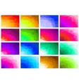 Set polygon abstract vector image vector image