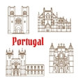 sights portugal linear icon for travel design vector image
