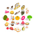 sip icons set isometric style vector image vector image