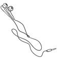 sketch earbuds and in-ear headphones vector image vector image