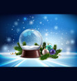 snow globe realistic composition vector image