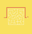 square maze and the shortcut to the exit vector image