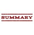 Summary Watermark Stamp vector image