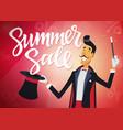 summer sale - cartoon people characters vector image vector image