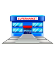 Supermarket building isolated on white vector image vector image