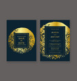 trendy wedding invitation vector image vector image