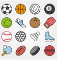 variety sports set in flat style on gray vector image vector image