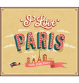 Vintage greeting card from Paris - France vector image vector image