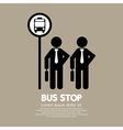 Waiting at a Bus Stop vector image vector image