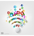Wi-fi icon Application buttonSocial mediaCloud vector image vector image