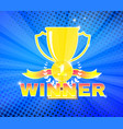 winners cup for first place vector image vector image