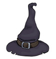 witch hat for halloween design vector image