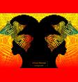 women portrait africa safari concept background vector image vector image