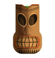 wood indian idol icon cartoon style vector image