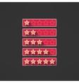 five stars rating design elements in modern vector image