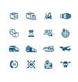 logistics icons - micro series vector image