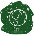 earth drawn vector image