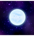 moon on space background vector image