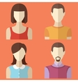 Set of male and female characters Man woman avatar vector image