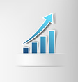 Chart of profit growth vector image