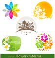 flower emblems and labels vector image