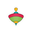 toy icon flat whirligig vector image