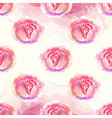 Watercolor Floral pattern with roses vector image