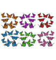 a large set butterflies in different angles vector image vector image