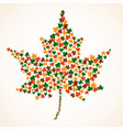 abstract maple leafs for your design vector image vector image