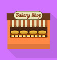 bakery street shop icon flat style vector image