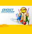 batsman player playing cricket championship sports vector image vector image