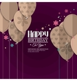 birthday card with paper balloons