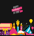birthday decoration with set icons vector image