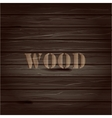 Brown wood texture background with text vector image vector image