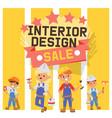 builder constructor interior design vector image