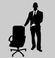 business man black and white 14 vector image vector image